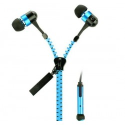 In Ear Zipper Headset (Blauw)