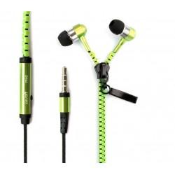 In Ear Zipper Headset (Groen)