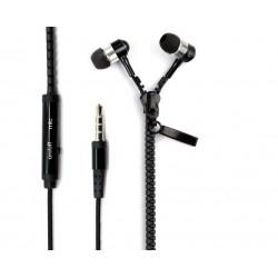 In Ear Zipper Headset (Zwart)