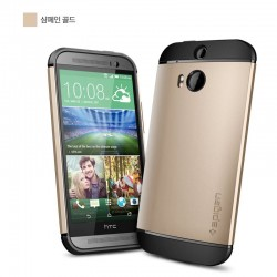 Slim Armor Case voor HTC ONE (goud)