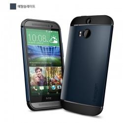 Slim Armor Case voor HTC ONE (blauw)