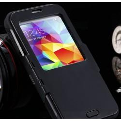 Slim Armor S View voor Samsung Galaxy S5 (zwart)