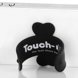Touch-U  silicone smart phone standaard (zwart)