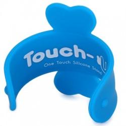 Touch-U  silicone smart phone standaard (blauw)