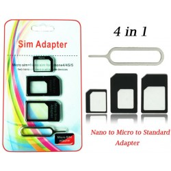 4 in 1 Simkaart adapter