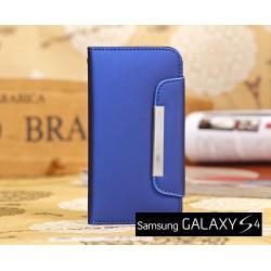 Galaxy S4 mini Leren Case Wallet Stijl met magnetische Flip Cover