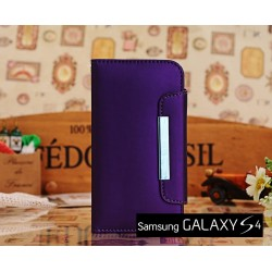 Galaxy S4 Leren Case Wallet Stijl met magnetische Flip Cover