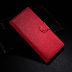 Sony Xperia Z3 Lychee leder wallet flip cover - rood