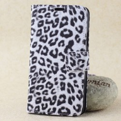 Galaxy S5 - Luxe Luipaard Wallet Case met flip standaard