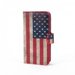 Galaxy S5 mini USA Flag Wallet Case
